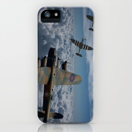 Lancaster Bomber and Spitfires iPhone Case
