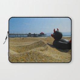 Devil Ducky goes to the beach - California Laptop Sleeve