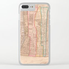 Vintage Map of St Louis MO (1861) Clear iPhone Case