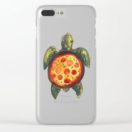 pizza turtle Clear iPhone Case
