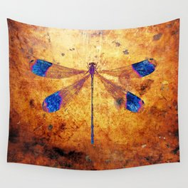 Dragonfly in Amber Wall Tapestry