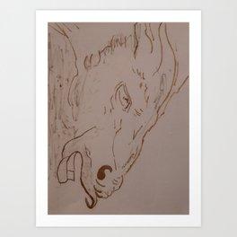 Horse's head II Art Print