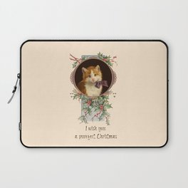PURRFECT CHRISTMAS greeting card Laptop Sleeve