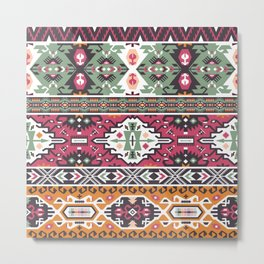 Modern Native American Pattern 3 Metal Print