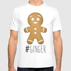 #Ginger Mens Fitted Tee White MEDIUM