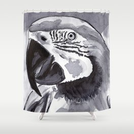 Parrot - Animal Series in Ink Shower Curtain