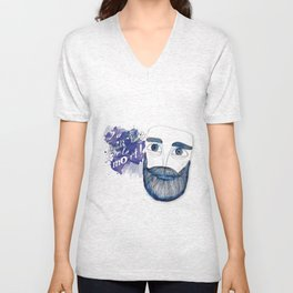La barbe ou la mort! Unisex V-Neck