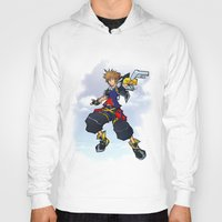 kingdom hearts Hoodies featuring Kingdom Hearts 2 - Sora by Outer Ring