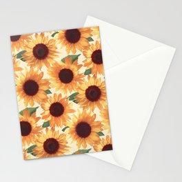 Happy Orange Sunflowers Stationery Cards