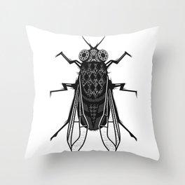 A housefly Throw Pillow