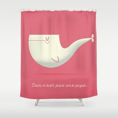 Pipe Whale Shower Curtain