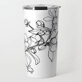 Apple Blossoms, A Continuous Line Drawing Travel Mug