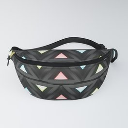 Geometric ornament with prism decorative elements. Fanny Pack