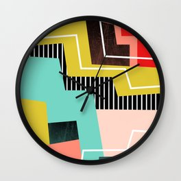 Color Block Wall Clock