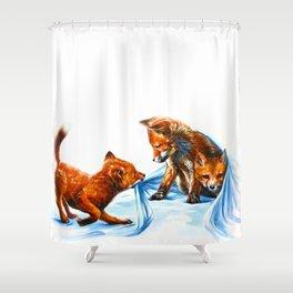 Fox kids Shower Curtain