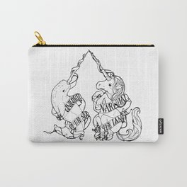 Unicorn of the Sea/Narwhal of the Land Carry-All Pouch