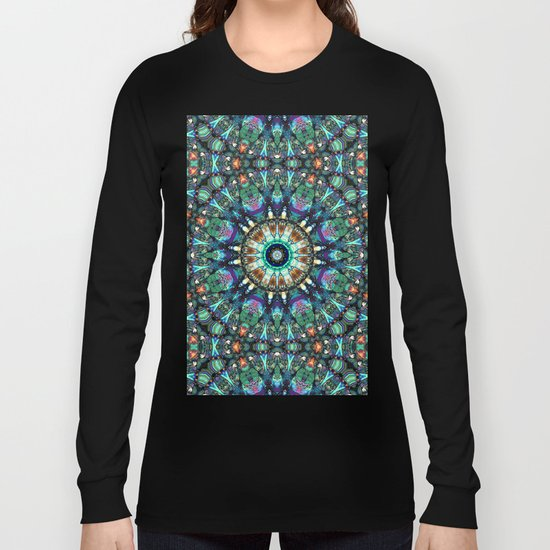 Stained Glass Abstract Long Sleeve T-shirt