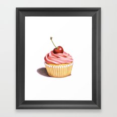 The Perfect Pink Cupcake Framed Art Print