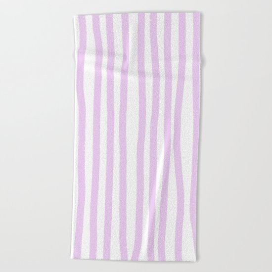 Lavender Stripes Beach Towel