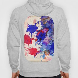 Blue & Red Color Splash Hoody