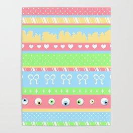 Creepy Cute Stripes Poster