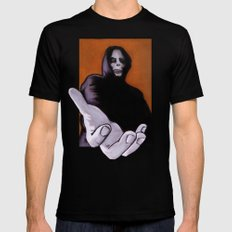Death Goes In Fear of What It Cannot Be Black MEDIUM Mens Fitted Tee