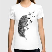 fly T-shirts featuring Fly Away by Rachel Caldwell