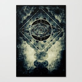 Sacred Geometry for your daily life -  SATURN EYE Canvas Print