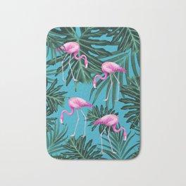 Summer Flamingo Jungle Vibes #2 #tropical #decor #art #society6 Bath Mat