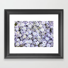 Flower carpet Framed Art Print