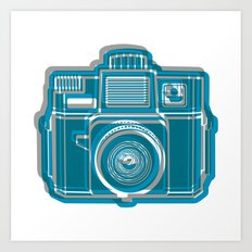 I Still Shoot Film Camera Logo Art Print