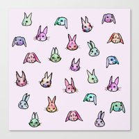rabbits Canvas Prints featuring Rabbits by Darish