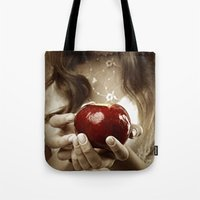 fairy tale Tote Bags featuring Fairy Tale by Judy Hung