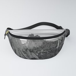 Garden of the Gods - Colorado Springs Landscape in Black and White Fanny Pack