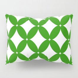 Abstract pattern - green and white. Pillow Sham