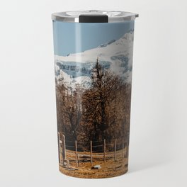 Mountain from the base of the thundering hill Travel Mug