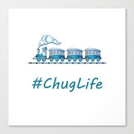 #ChugLife Blue Train Canvas Print