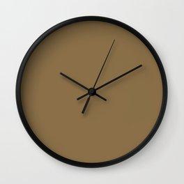 Dull Gold Wall Clock