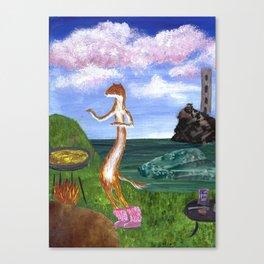 Weasel Sprinkles Paprika Canvas Print