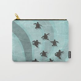Loggerhead sea turtle hatchlings Carry-All Pouch