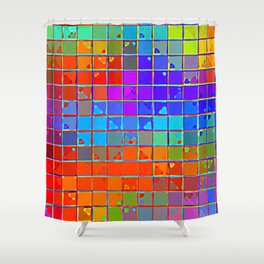 Re-Created Fired Clay 2 by Robert S. Lee Shower Curtain