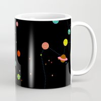 planets Mugs featuring Planets by camilla falsini