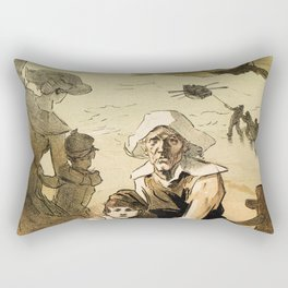 1890 Drowned fishermen charity ball by Chéret Rectangular Pillow