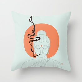 Buddha : Give Peace a Chance! Throw Pillow