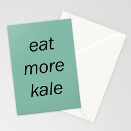 eat more kale Stationery Cards