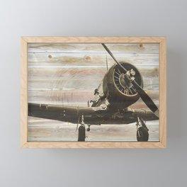 Old airplane 2 Framed Mini Art Print