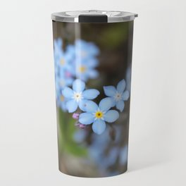 3 Forget-Me-Nots in the Center Travel Mug