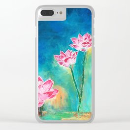 Lotus Lover Clear iPhone Case