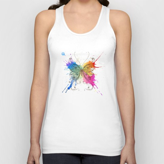 Butterfly Color Explosion Unisex Tank Top