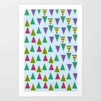 Christmas Trees 2 Art Print